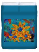 Stimuli Floral -s01t01 Duvet Cover by Variance Collections