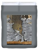 Stone Men 28b - Celebration Duvet Cover by Variance Collections