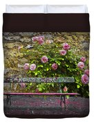 Stop And Smell The Roses Duvet Cover by Debra and Dave Vanderlaan