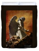 Stop In The Name Of God Duvet Cover by Susanne Van Hulst