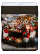 Store - Ny - Chelsea - Fresh Fruit Stand Duvet Cover by Mike Savad