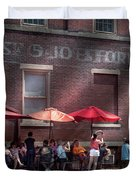 Storefront - Bastile Day in Frenchtown Duvet Cover by Mike Savad