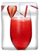 Strawberry Daiquiri Duvet Cover by Elena Elisseeva
