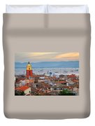 St.tropez At Sunset Duvet Cover by Elena Elisseeva
