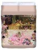 Study For The Roses Of Heliogabulus Duvet Cover by Sir Lawrence Alma-Tadema