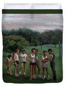Summer Evening Meet Duvet Cover by Sarah Yuster