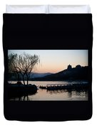 Summer Palace Evening Duvet Cover by Mike Reid