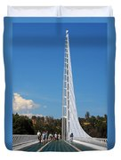 Sundial Bridge - This Bridge Is A Glass-and-steel Sculpture Duvet Cover by Christine Till