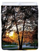 Sundown In Stanley Park Duvet Cover by Will Borden