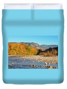 Sunlight On The Saco Duvet Cover by Geoffrey Bolte