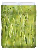 Sunny day at the oat field Duvet Cover by Christine Till