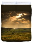 Sunrays Through Clouds, North Duvet Cover by John Short