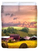 Sunrise Pastures Duvet Cover by Debra and Dave Vanderlaan