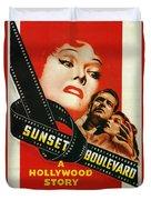 Sunset Boulevard Duvet Cover by Georgia Fowler
