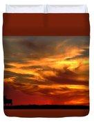 Sunset Bull  Duvet Cover by Cliff Norton