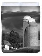 Sunset On The Farm BW Duvet Cover by David Dehner