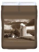 Sunset On The Farm S Duvet Cover by David Dehner