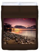 Sunset On The Rocks Duvet Cover by Cale Best