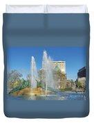 Swann Fountain At Logan's Circle Duvet Cover by John Greim