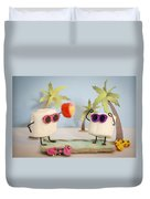 Sweet Vacation Duvet Cover by Heather Applegate