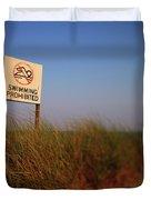 Swimming Prohibited Duvet Cover by Rick Berk