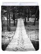 Swinging Cable Foot Bridge Duvet Cover by John Stephens