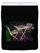 Table And Chairs Duvet Cover by Joan  Minchak