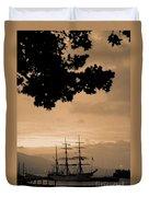 Tall Ship Gorch Fock Duvet Cover by Gaspar Avila