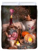 Tea Party - I Would Love To Have Some Tea  Duvet Cover by Mike Savad