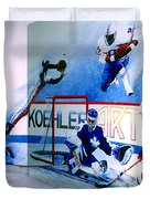 Team Sports Mural Duvet Cover by Hanne Lore Koehler