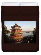Temple Of The Fragrant Buddha Duvet Cover by Mike Reid