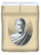 Thales, Ancient Greek Philosopher Duvet Cover by Photo Researchers, Inc.