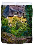 Thatched Roof Country Home Duvet Cover by Chris Lord