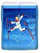 The Aerial Skier 16 Duvet Cover by Hanne Lore Koehler