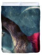 The Agony Of Saint Catherine Duvet Cover by RC DeWinter
