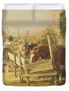 The Appian Way Duvet Cover by Henry Herbert La Thangue