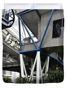 The Area Below The Capsules Of The Singapore Flyer Duvet Cover by Ashish Agarwal