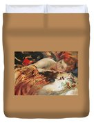 The Artist's Mistress Duvet Cover by Charles Sims