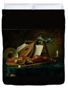 The Attributes Of Music Duvet Cover by Anne Vallaer-Coster
