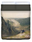 The Avon Gorge - Looking Over Clifton Duvet Cover by Francis Danby