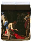 The Beheading Of John The Baptist Duvet Cover by Massimo Stanzione