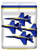 The Blue Angels Duvet Cover by Greg Fortier