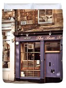 The Bow Bar. Edinburgh. Scotland Duvet Cover by Jenny Rainbow