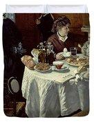 The Breakfast Duvet Cover by Claude Monet