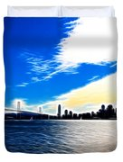 The City By The Bay Duvet Cover by Wingsdomain Art and Photography