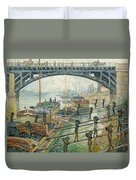 The Coal Workers Duvet Cover by Claude Monet