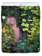 The Courtyard Garden, Fairfield Lodge Duvet Cover by The Irish Image Collection
