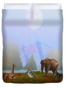The Day After Armageddon At The San Francisco Zoo Duvet Cover by Wingsdomain Art and Photography