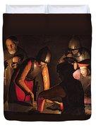 The Denial Of Saint Peter Duvet Cover by Georges De La Tour