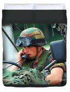 The Driver Of A Mortar Section Duvet Cover by Luc De Jaeger